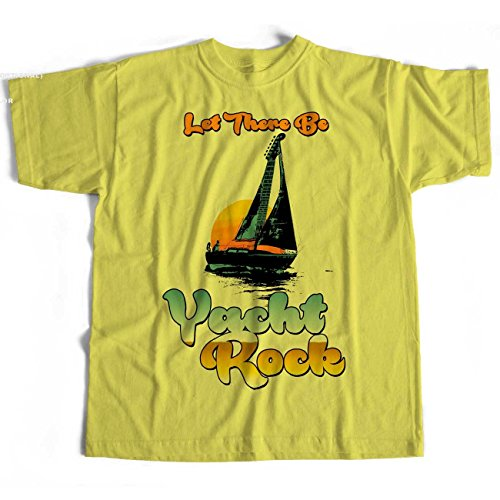 Old Skool Hooligans Let There Be Yacht Rock T Shirt - For West Coast AOR Afficionados-yellow-xxl -