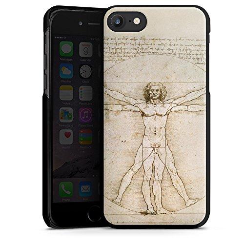Apple iPhone X Silikon Hülle Case Schutzhülle Leonardo da Vinci The Proportions of Man Kunst Hard Case schwarz