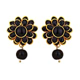 Adwitiya 24k Gold Plated Rich Black Ston...