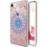 iPhone 5caso, iPhone 7caso, ikasus Ultra Thin Suave TPU Caso, colorido arte pintado Mandala flores serie, suave silicona caso de goma, cristal transparente floral suave carcasa de silicona para Apple Iphone 8/iPhone 7,