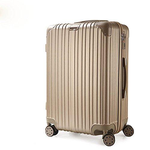 Jsby Zipper Pc Universal Wheel Male and Female Suitcase Maleta De Viaje,Champagnegold,24Inch