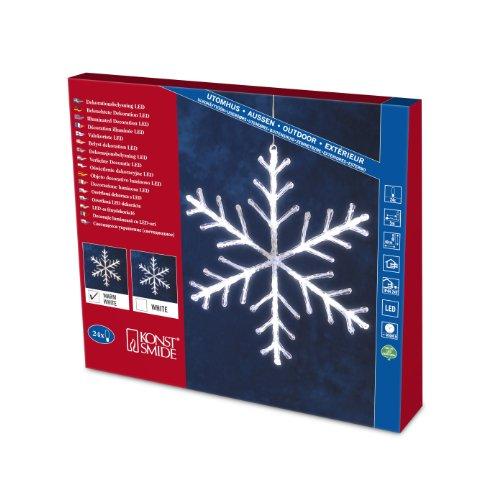 LED Acryl Schneeflocke 40x40cm 24er warmweiss Konstsmide 4440-103 außen