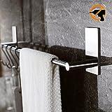Duoue Selbstklebende Handtuchhalter Handtuchstange Bad ohne Bohren Küchen Hängeleiste Spültuchhalter Handtuchständer Wand 40cm Edelstahl