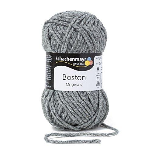 Schachenmayr  Boston 9807412-00092 mittelgrau meliert Handstrickgarn (Wolle Stricken)