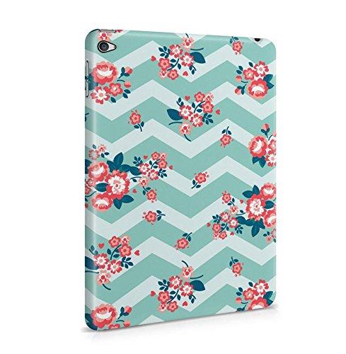 Lily Handy Snap (Vintage Retro Chevron Mint Green Floral Blumen Muster Dünne Tablet Handy Schutzhülle Hardcase Aus Hartplastik Hülle für iPad Mini 4 Case Cover)