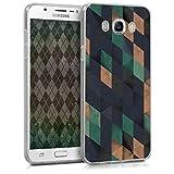 kwmobile Samsung Galaxy J7 (2016) Hülle - Handyhülle für Samsung Galaxy J7 (2016) - Handy Case in Dunkelblau Petrol Beige