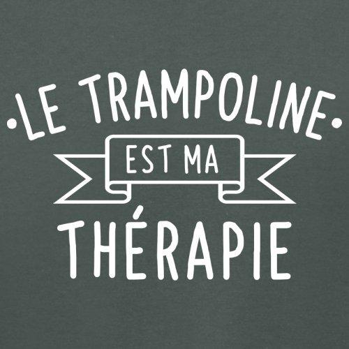 Le trampoline est ma thérapie - Femme T-Shirt - 14 couleur Gris Foncé