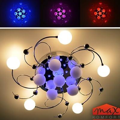 """Deckenleuchte Deckenlampe """"Gerda"""" 11 FL 24 LED Chrom NEU TOP FB von Maxkomfort - Lampenhans.de"""