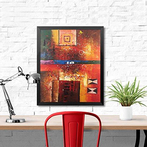 Raybre Art® 50 x 60 cm Cuadros en Lienzo - Cuadros Abstractos Retro Sobre -100% Pintada a Mano Pinturas de óleo para Arte Pared Decoración Hogar , Sin marco