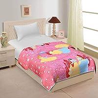 Home Spaces Cartoon Character Kids Single Bed Reversible AC Dohar/Blanket (Set of 1)