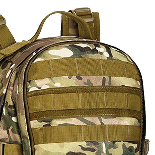Gazechimp 35L Molle Rucksack Taktischer Unisex Erwachsene Rucksack Trekkingrucksack Wanderrucksack Outdoor Reiserucksack CP Camo