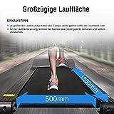 Fitifito FT900 Profi Laufband 7PS 22km/h mit LCD Bildschirm, Dämpfungssystem, 5 Trainingsmodulen inkl. HRC - Klappbar, Silber - 6