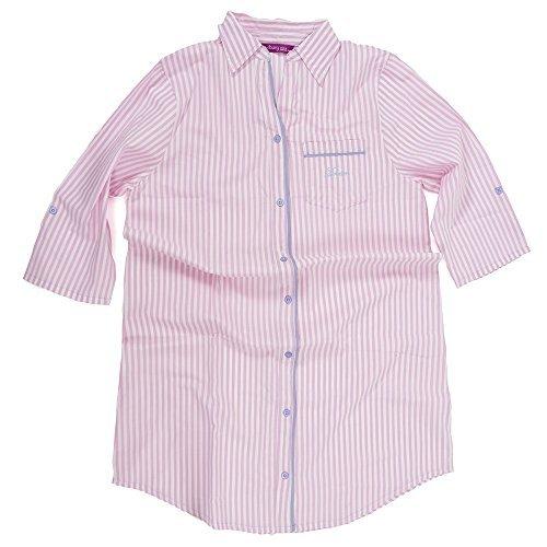 Hari Deals Damen Baumwolle langärmlig Bedruckt Nachthemd Nachthemd - Rosa, 8-10 UK