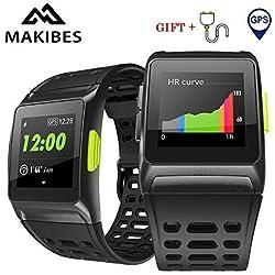 Makibes BR1 GPS Reloj Deportivo Inteligente, Conecta con Strava, Resistente al Agua IP 67 Multideporte Reloj de Pulsera Hombres y Mujeres, Fitness, Bluetooth