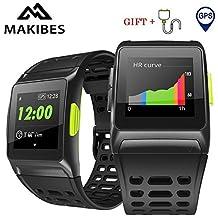 Makibes BR1 GPS Reloj Deportivo Inteligente, Conecta con Strava, Resistente al Agua IP 67