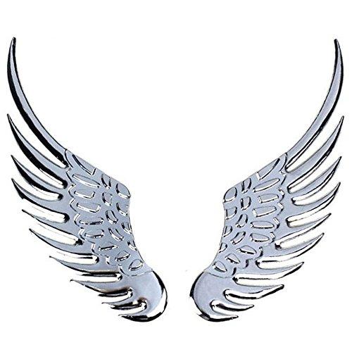 Adhesivo cromado, diseño de alas de ángel adhesivo coche tuning car sticker...
