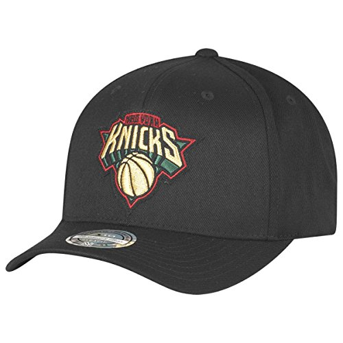 Mitchell & Ness New York Knicks NBA Luxe 110 Curved Snapback, Black, Gr. One Size (Die New York Knicks)