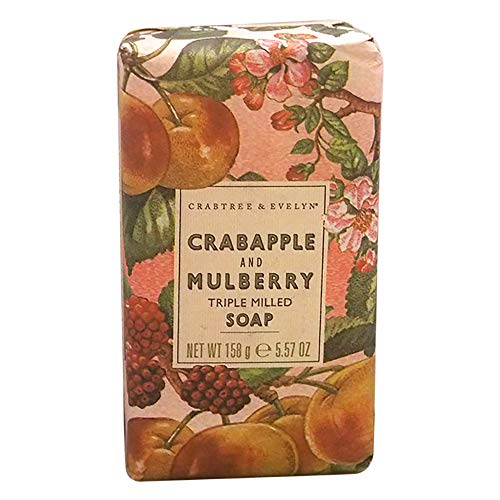 Crabtree & Evelyn Crabapple and Mulberry triple milled soap, 1er Pack (1 x 158 g) -
