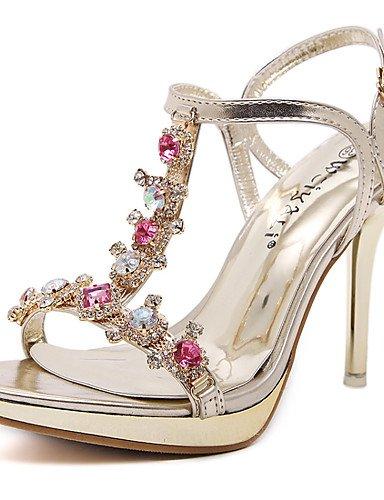 LFNLYX Chaussures Femme-Mariage / Habillé / Décontracté / Soirée & Evénement-Or-Talon Aiguille-Talons / Bout Ouvert / Confort / Nouveauté / Bout golden