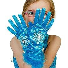 Kids turquesa 'Frozen' disfraz guantes (3–6años) Lucy Locket