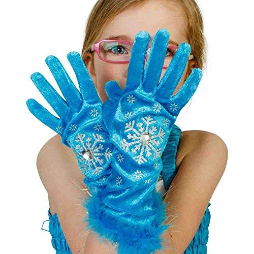 Lucy Locket Bambini turchese 'Frozen Inspired' Fancy Dress Gloves (3-6anni)