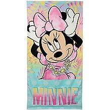 Minnie Mouse - Toalla de playa, 70x140cm (Artesania Cerda)