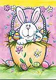 Toland Home Gartenhase in Einem Korb, 31,8 x 45,7 cm, Pastellfarben