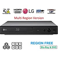 LG BP-250 Region free Blu-ray Player, Multi Region Smart 110-240 Volts, Dynastar 6 foot HDMI Bundle