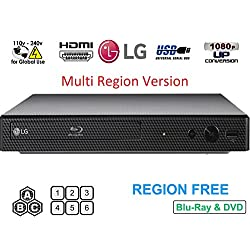 LG BP250 Region Lecteur Blu-ray gratuit Multi régions LG BP-250 Region Lecteur Blu-ray gratuit Dynastar Câble HDMI 1,8 m Télécommande avec piles incluses. Alimentation 110-240 volts pour Royaume-Uni incluse. Manuel d'instructions (français non garant...