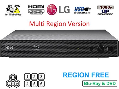 Dynastar LG BP-250 HDMI-Bundle (Region frei Blu-Ray-Player, Multi Region Smart 110-240 V, 1,8 m) - Smart Dvd-blu-ray-player