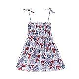 Vestido de Verano, BBestseller Imprimiendo Vendaje sin Mangas Boho Mini Vestir Vestidos de Fiesta de Playa Falda de Princesa para Niñas