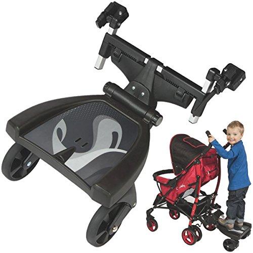 Buggyboard Kinderwagen Buggy Trittbrett Mitfahrbrett Rollbrett Schwarz bis 20 Kg