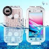 WLWLEO Für iPhone 8 Plus & 7 Plus 40m / 130ft wasserdichtes Tauchgehäuse Foto Video, das...