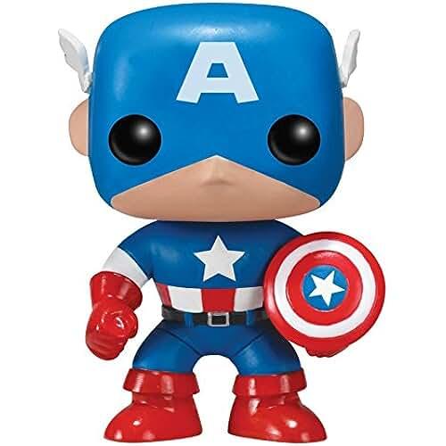 munecos pop kawaii POP! Bobble - Marvel: Captain America