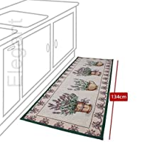 Elegant Machine Washable Anti Skid Jacquard Kitchen Rugs Super Absorbent / Small Carpet from Bloomy