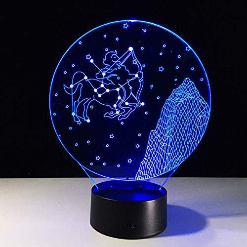 Schütze Lampe zwölf Konstellationen dekorative Tischlampe Neuheit Nachtlicht Geburtstagsfeier Geschenkfarbe