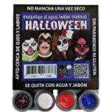 Kit Make-up Halloween Zombie wasserfest Fantasia Grimas