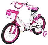 Actionbikes Kinderfahrrad Daisy - 16 Zoll - V-Break Bremse vorne - Stützräder - Luftbereifung - Ab 4-7 Jahren - Jungen & Mädchen - Kinder Fahrrad - Laufrad - BMX - Kinderrad (16`Zoll)