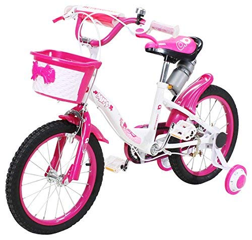 Actionbikes Kinderfahrrad Daisy - 16 Zoll - V-Break Bremse vorne - Stützräder - Luftbereifung - Ab 4-7 Jahren - Jungen & Mädchen - Kinder Fahrrad - Laufrad - BMX - Kinderrad (16`Zoll) -