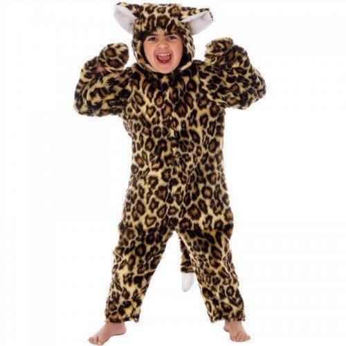 enfants-garons-filles--Fourrure-Chat-Lopard-ZOO-ANIMAL-COMBINAISON-halloween-costume-dguisement-Nol