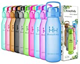 9HoneyHolly Sports Trinkflasche Wasserflasche - 32oz/1L & 50oz/1.5L - Top klick Open - Non-Toxic BPA Free & Eco-Friendly Tritan- Für Sport im Freien/Outdoor Fitness Training(Blau-32oz&1L)