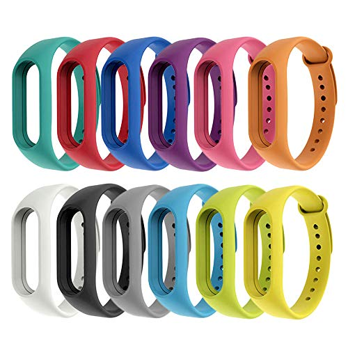 [Compatible Mi Band 2] 12 Piezas Correas Xiaomi Mi