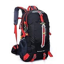 Macutos de senderismo Mochilas y bolsas Senderismo Mochila, Camping Mochila / Viaje Mochila / Trekking Mochilas / Casual Mochila para el deporte al aire libre Senderismo Trekking Camping Escalada Montaña (40L, black)