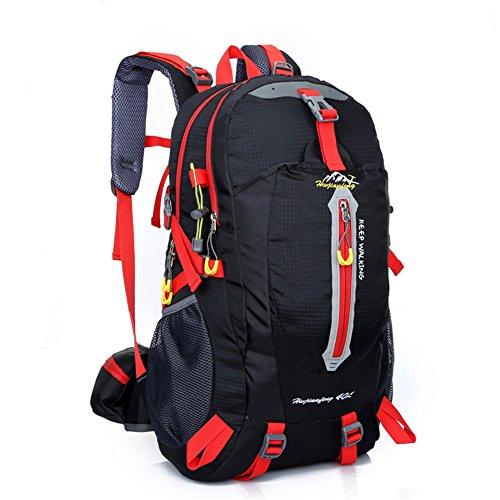 Imagen de macutos de senderismo  y bolsas senderismo , camping  / viaje  / trekking  / casual  para el deporte al aire libre senderismo trekking camping escalada montaña 40l, black