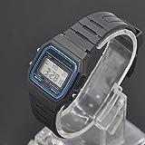 Orologio LED digitale, unisex multifunzione in plastica morbida banda di silicone sport casual impermeabile con orologio da polso Taglia libera Nero