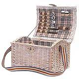 Shabby-Chic-Stil Picknickkorb für 2 Personen mit Zubehör - Das ideale Geschenk zum Geburtstag, Jahrestag, Hochzeit, Verlobung, Jubiläum