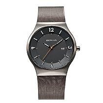 Bering Time Herren-Armbanduhr XL Solar Analog Quarz Edelstahl 14440-077