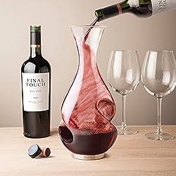 Final Touch LA GRANDE Enigme Carafe Aerateur de vin Bouteille pleine capacité 750ml