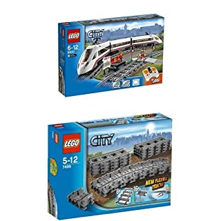 Lego City 60051 - Hochgeschwindigkeitszug + Lego City 7499 - Flexible Schienen (B01BM7Z4SW) | Amazon price tracker / tracking, Amazon price history charts, Amazon price watches, Amazon price drop alerts