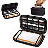 ORZLY® 2DSXL Case, Carry Case for New Nintendo 2DS XL - Protective Hard Shell Portable Travel Case Pouch for New 2DS XL Console with Slots for Games & Zip Pocket - BLACK on Black